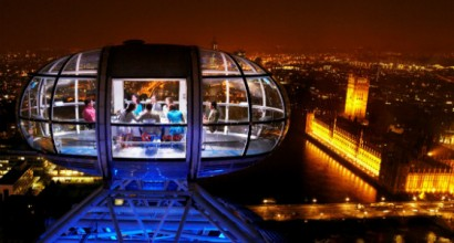 Private hire of the London Eye for dinner