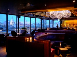 Bar with view of London