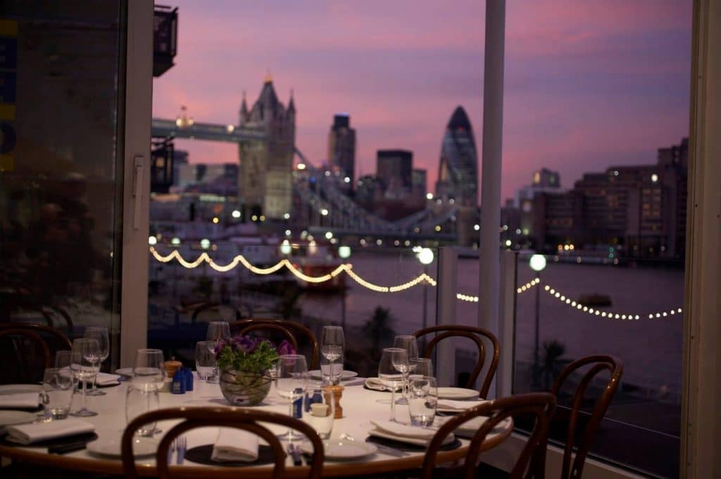 A venue with views of Tower Bridge